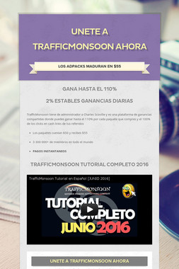 Unete a TrafficMonsoon AHORA