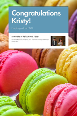 Congratulations Kristy!