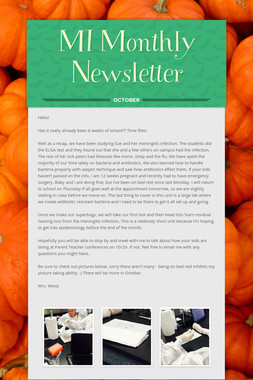 MI Monthly Newsletter