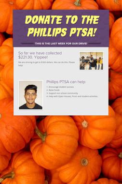 Donate to the Phillips PTSA!