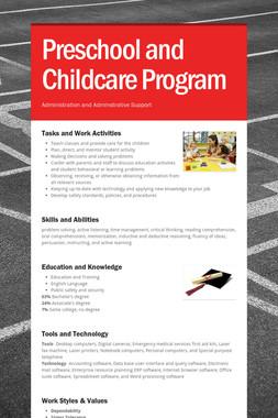 Preschool and Childcare Program