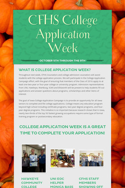 CFHS College Application Week