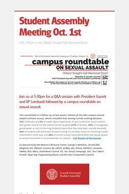 Student Assembly Meeting Oct. 1st
