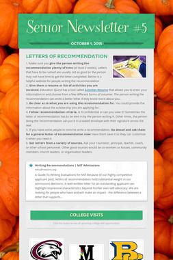 Senior Newsletter #5