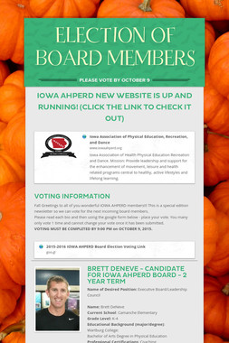 ELECTION OF BOARD MEMBERS