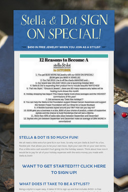 Stella & Dot       SIGN ON SPECIAL!