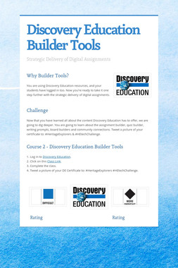 Discovery Education Builder Tools