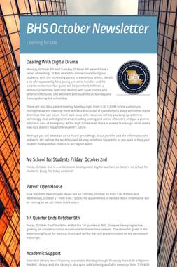 BHS October Newsletter