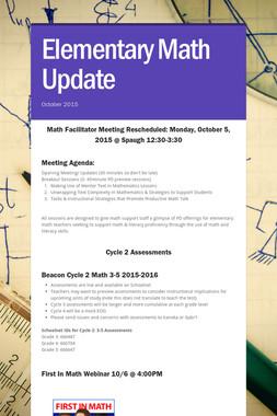Elementary Math Update
