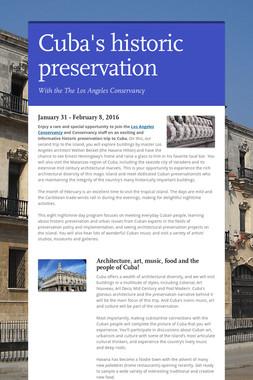 Cuba's historic preservation