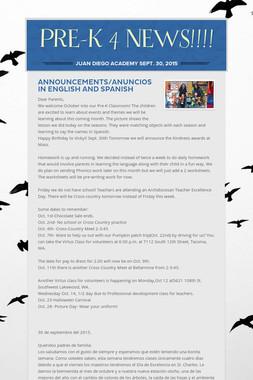 PRE-K 4 NEWS!!!!
