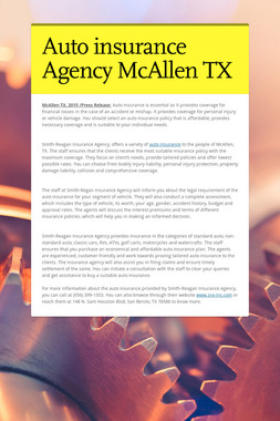 Auto insurance Agency McAllen TX