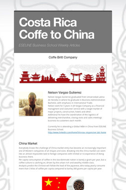 Costa Rica Coffe to China