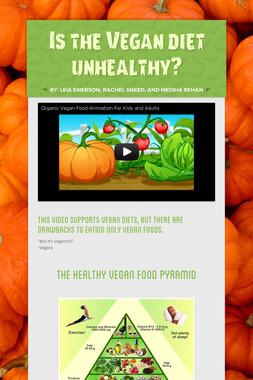 Is the Vegan diet unhealthy?