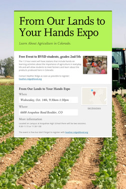 From Our Lands to Your Hands Expo