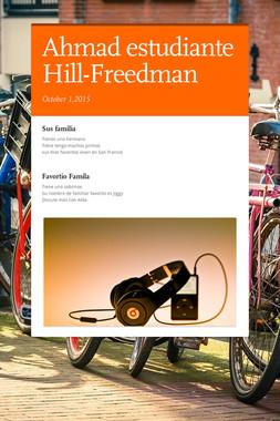 Ahmad estudiante Hill-Freedman
