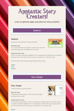 Apptastic Story Creators!