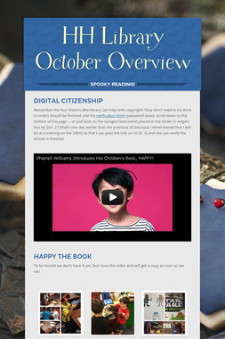 HH Library October Overview