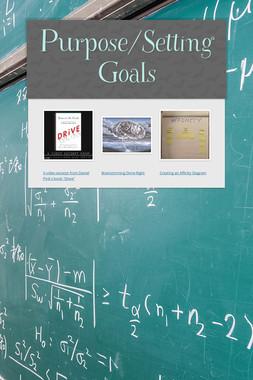 Purpose/Setting Goals