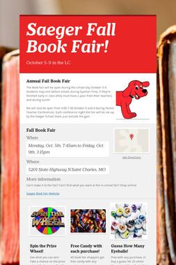 Saeger Fall Book Fair!