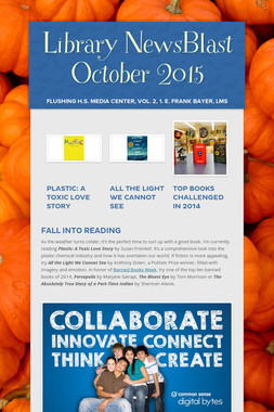 Library NewsBlast October 2015