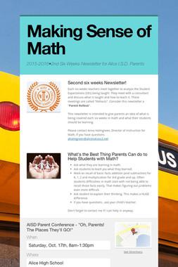 Making Sense of Math
