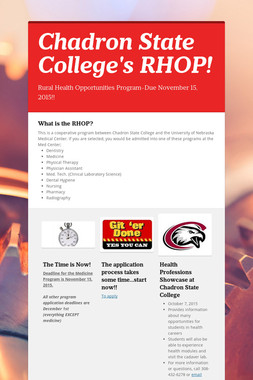 Chadron State College's RHOP!