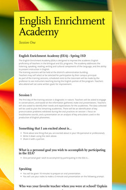 English Enrichment Academy