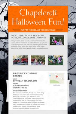 Chapelcroft Halloween Fun!