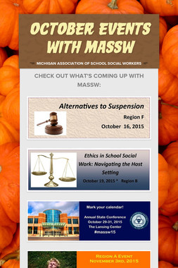 October Events with MASSW