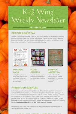 K-2 Wing Weekly Newsletter