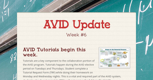 Avid Update  Smore Newsletters
