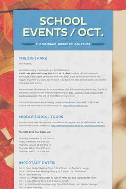 School Events / Oct.