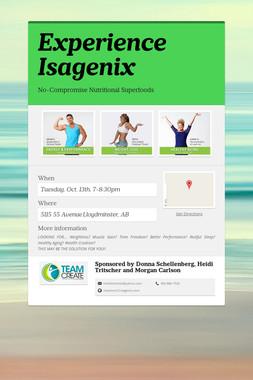 Experience Isagenix