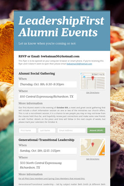 LeadershipFirst Alumni Events