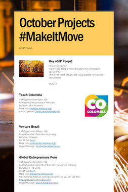 October Projects #MakeItMove