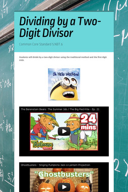 Dividing by a Two-Digit Divisor