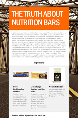 THE TRUTH ABOUT NUTRITION BARS