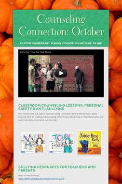 Counseling Connection: October