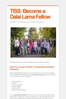 TISS: Become a Dalai Lama Fellow