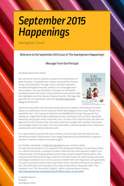 September 2015 Happenings
