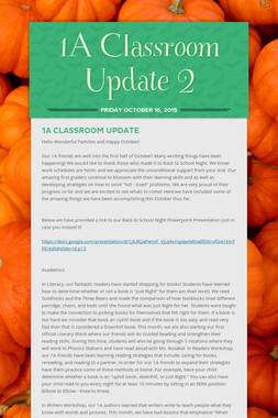 1A Classroom Update 2