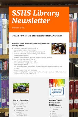 SSHS Library Newsletter