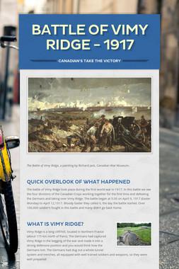 Battle of Vimy Ridge - 1917