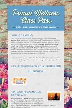 Primal Wellness Class Pass