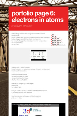 porfolio page 6: electrons in atoms