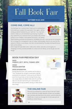Fall Book Fair