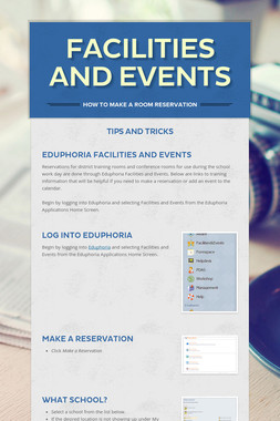 Facilities and Events