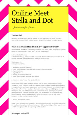 Online Meet Stella and Dot