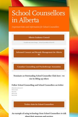 School Counsellors in Alberta